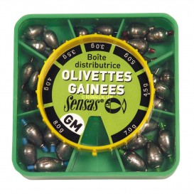 SENSAS BOITES D'OLIVETTES GAINEES 7 CASES