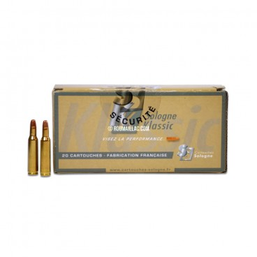 MUNITIONS BALLES CARTOUCHES SOLOGNE 30-06 WINCHESTER SUBSONIQUE