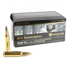 MUNITIONS BALLES FIOCCHI 222R REMINGTON