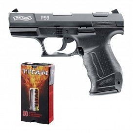 PACK PISTOLET WALTHER P99 + 50 CARTOUCHES