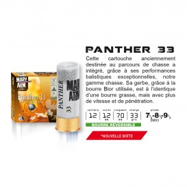 CARTOUCHES MARY ARM PANTHER 33