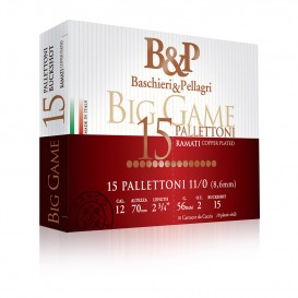 CHEVROTINES BASCHIERI&PELLAGRI BIG GAME PALLETTONI 15 GRAINS